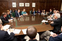 Meeting with the Editorial Board of the Chicago Tribune