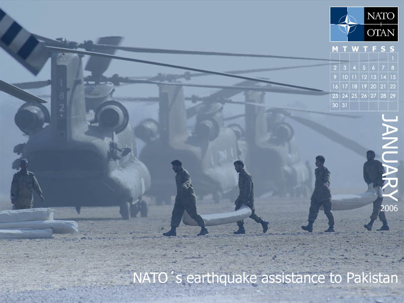 NATO Wallpapers. NATO's earthquake assistance to Pakistan