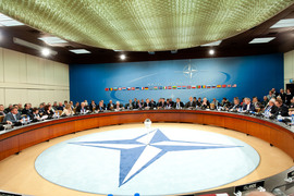 NATO Russia Council (NRC) Meeting - General view of the meeting room