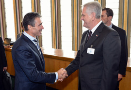 Bilateral meeting with NATO Secretary General Anders Fogh Rasmussen and the President of the Republic of Serbia, Tomislav Nikolic
