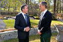 NATO Secretary General Anders Fogh Rasmussen and the Prime Minister of Norway, Jens Stoltenberg