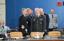 Left to right: Admiral Fernando Garcia Sanchez (Chief of Defence, Spain) talking with General Knud Bartels (Chairman of the Military Committee)