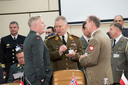 Left to right: General Harald Sunde (Chief of Defence, Norway) speaking with Lt. General Arvydas Pocius (Chief of Defence, Lithuania) and Lt. General Mieczyslaw Gocul (Chief of Defence,Poland)