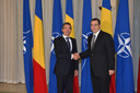 Bilateral meeting with NATO Secretary General Anders Fogh Rasmussen and Victor Ponta, Prime Minister of Romania