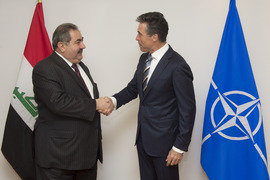 The Minister of Foreign Affairs of Iraq, Hoshyar Zebari and NATO Secretary General Anders Fogh Rasmussen