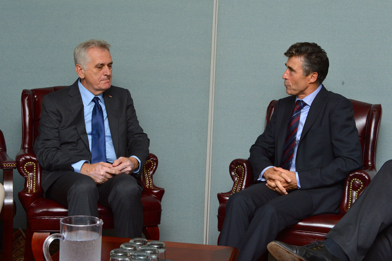 Bilateral meeting between the NATO Secretary General Anders Fogh Rasmussen and the Serbian President, Tomislav Nikolic