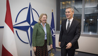 Minister of Foreign Affairs of the Republic of Austria visits NATO