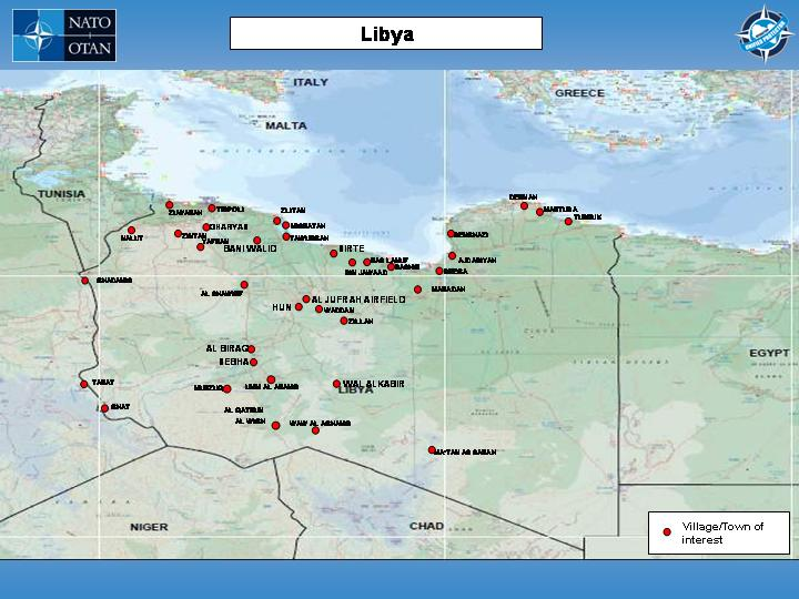 Libya To Italy Map.Nato Photo Gallery Evolution Of The Frontlines In Libya March
