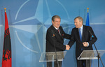 Visit to NATO by the Prime Minister of Albania, Sali Berisha - Joint Press Point with NATO Secretary General, 56.12KB