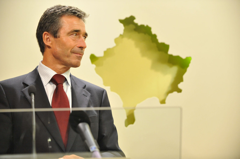Press point. NATO Secretary General Anders Fogh Rasmussen.