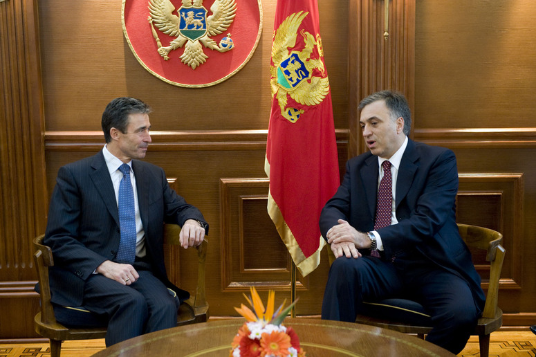 NATO Secretary General Anders Fogh Rasmussen meets with the President of Montenegro, Filip Vujanovic