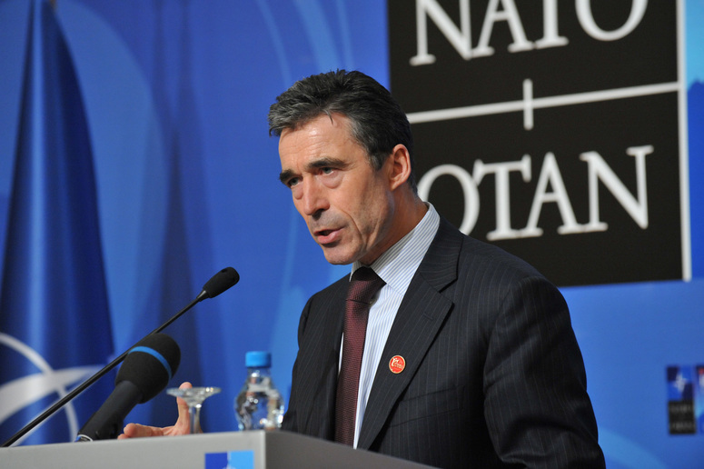Press conference by NATO Secretary General Anders Fogh Rasmussen.