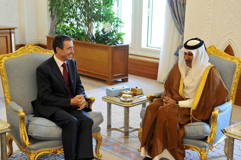 Bilateral meeting between NATO Secretary General Anders Fogh Rasmussen and the Prime Minister and Foreign Minister of Qatar, H.E. Sheikh Hamad Bin Jassim bin Jabr Al-Thani