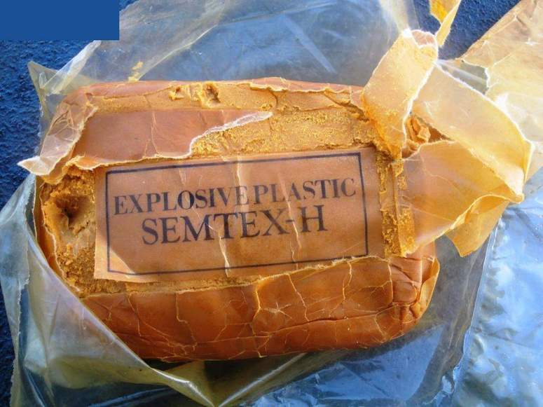A bag of semtex high explosive found onboard the rigid-hulled inflatable boat (RHIB)