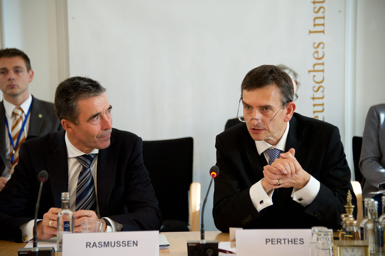 NATO Review Conference hosted by the ''Stiftung Wissenschaft und Politik''. Left to right: NATO Secretary General Anders Fogh Rasmussen and the Director of the ''Stiftung Wissenschaft und Politik'', Volker Perthes.
