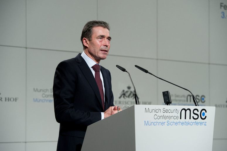 NATO Secretary General Anders Fogh Rasmussen addresses the 2012 Munich Security Conference