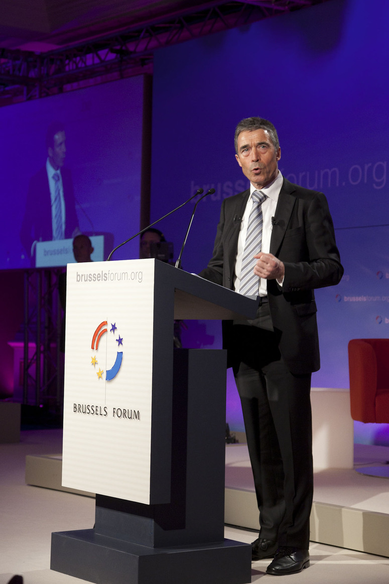 "The NATO Secretary General Mr. Anders Fogh Rasmussen addresses  the Brussels Forum with his speech ""NATO 2020 - Shared Leadership for a shared Future"""