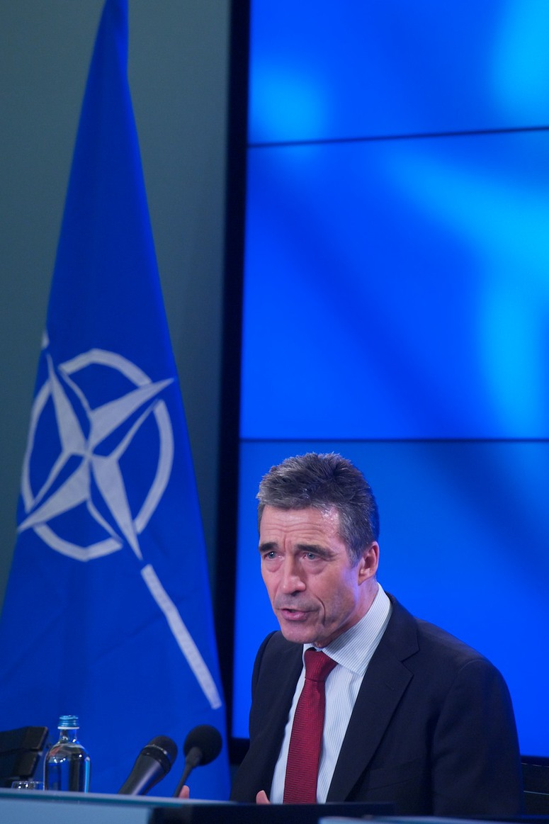 Press Conference at Residence Palace by NATO Secretary General Anders Fogh Rasmussen