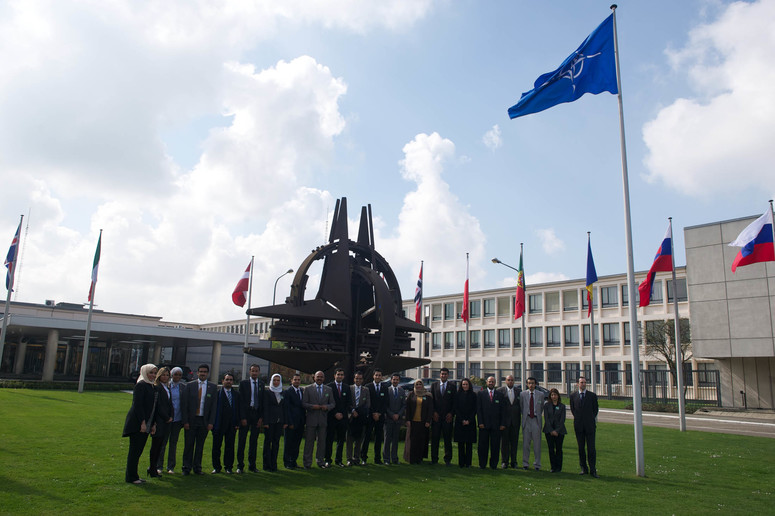 Diplomats from the Kingdom of Bahrain visiting NATO Headquarters