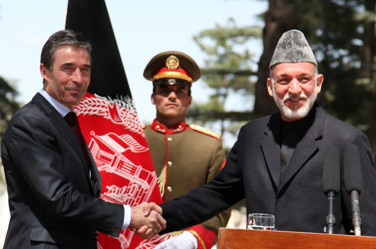 Joint press conference with NATO Secretary General Anders Fogh Rasmussen and President Hamid Karzai of Afghanistan