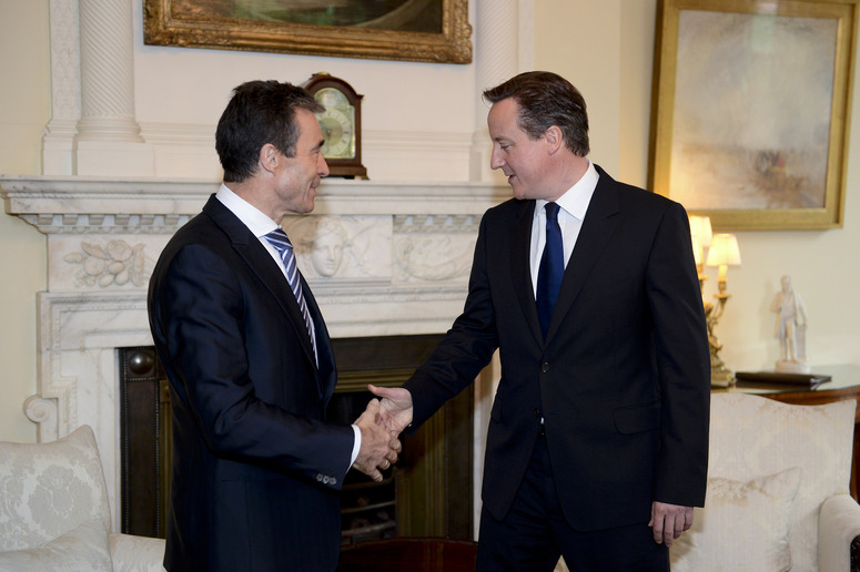 Bilateral meeting between NATO Secretary General Anders Fogh Rasmussen and British Prime Minister David Cameron at 10, Downing Street