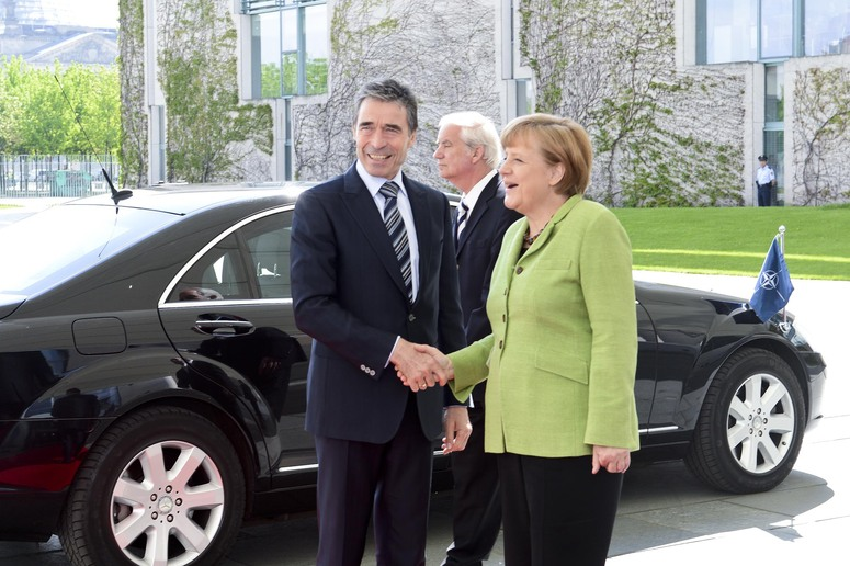 Bilateral meeting between the NATO Secretary General Anders Fogh Rasmussen and the German Chancellor Angela Merkel in Berlin