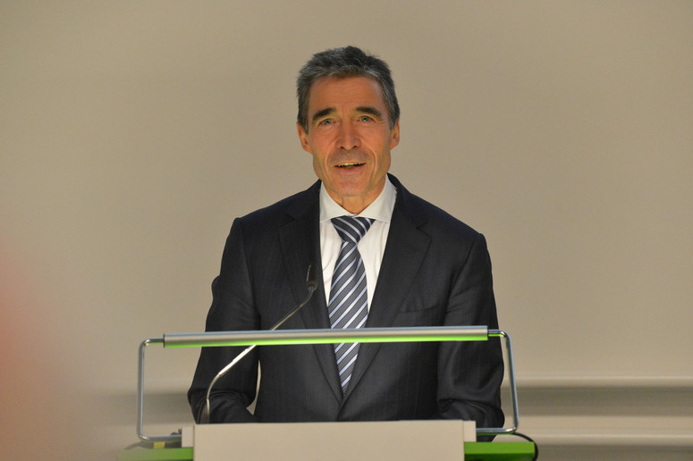 NATO Secretary General Anders Fogh Rasmussen during his address to this year's Churchill Symposium, organised by the University of Zurich's Europe Institute
