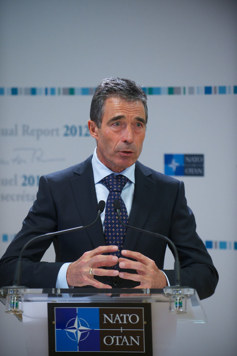 First monthly press conference of 2013 by NATO Secretary General Anders Fogh Rasmussen and release of the Annual Report for 2012.