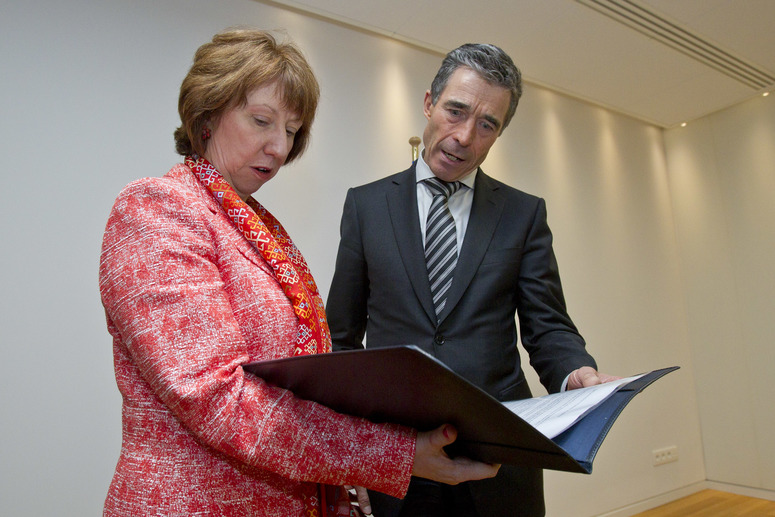 NATO Secretary General Anders Fogh Rasmussen and Baroness Catherine Ashton