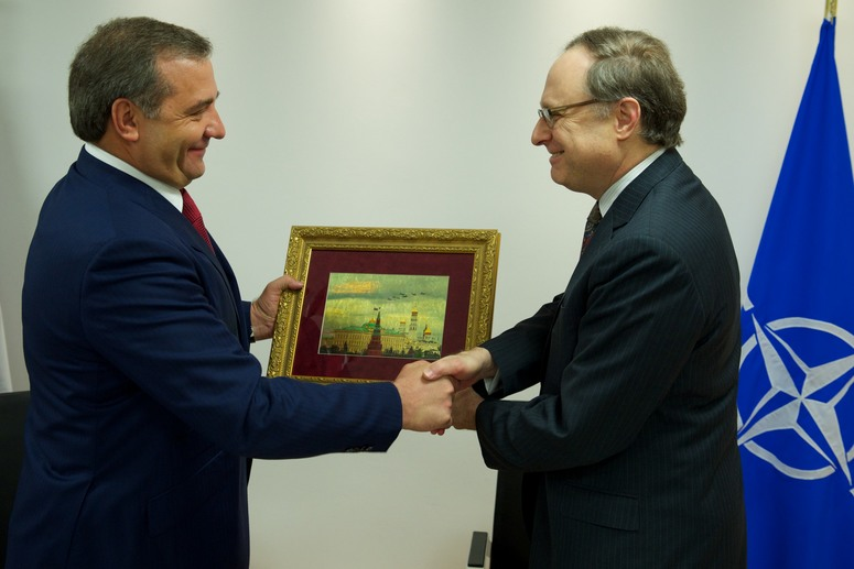 NATO Deputy Secretary General Ambassador Alexander Vershbow and Vladimir Puchkov, Minister for Civil Defence, Emergency Situations and Disaster Relief of the Russian Federation (left)