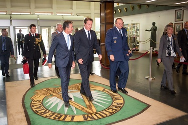 NATO Secretary General and British Prime Minister visit Headquarters of Allied Command Operations (SHAPE)