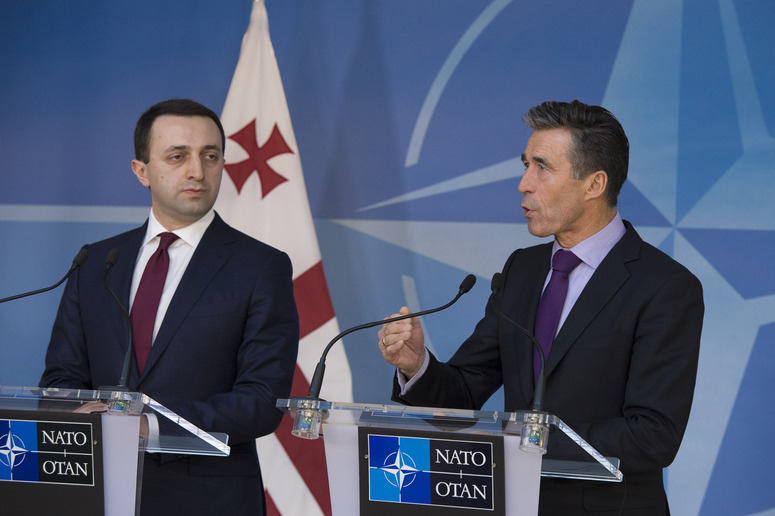 Joint press point with NATO Secretary General Anders Fogh Rasmussen and the Prime Minister of Georgia, Irakli Garibashvili