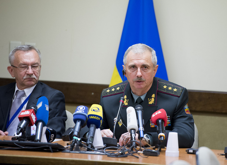 Press Conference Col. General Mykhaylo Koval (Acting Minister of Defence, Ukraine)