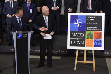NATO Wales Summit Logo unveiled by foreign ministers