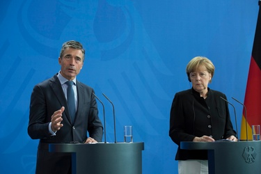 Remarks by NATO Secretary General Anders Fogh Rasmussen at the joint press point with German Chancellor Angela Merkel