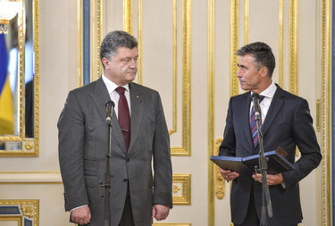 Remarks by NATO Secretary General Anders Fogh Rasmussen upon receiving the Order of Liberty from President Poroshenko of Ukraine
