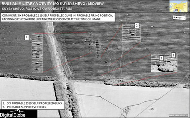 NATO releases satellite imagery showing Russian combat troops inside Ukraine