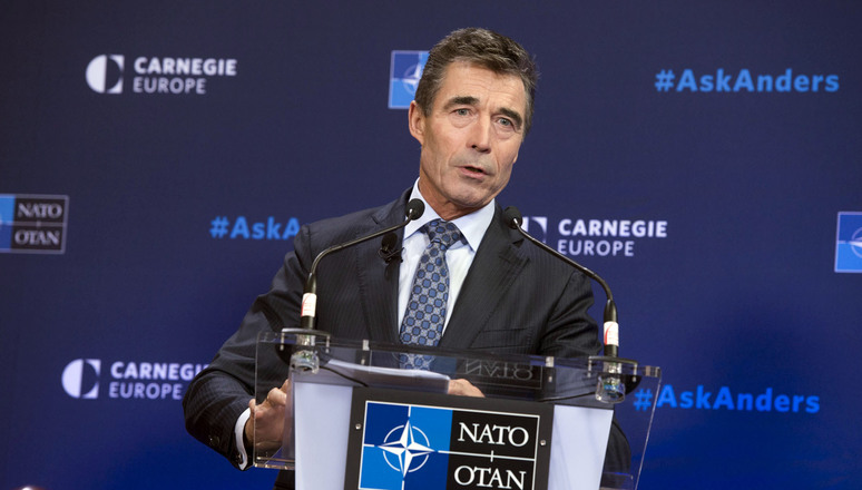 "NATO Secretary General Anders Fogh Rasmussen delivering his speech ""A Force for Freedom"" at Carnegie Europe"