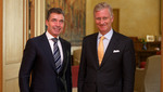 NATO Secretary General meets the King of the Belgians