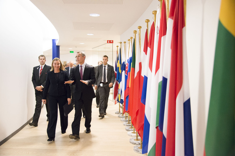 NATO Secretary General Jens Stoltenberg and EU High Representative Federica Mogherini