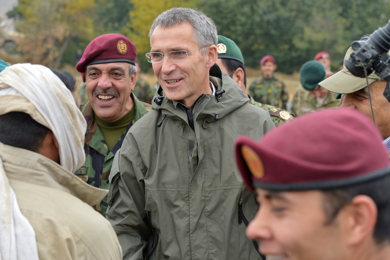 NATO Secretary General Jens Stoltenberg visits  the Afghan National Army Special Operations Command at Camp Morehead in Kabul