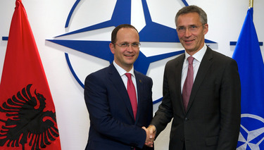 Visit to NATO by the Minister of Foreign Affairs of Albania