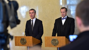 Doorstep statement by NATO Secretary General Jens Stoltenberg meeting with President Toomas Ilves of Estonia