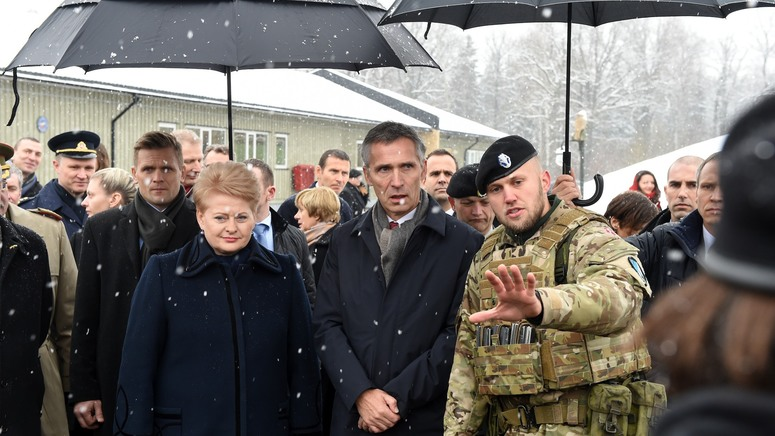 Secretary General stresses NATO's commitment to collective security in visit to Lithuania