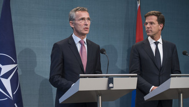 Joint press point with NATO Secretary General Jens Stoltenberg and Prime Minister Mark Rutte of the Netherlands