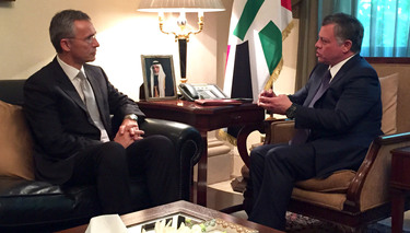 NATO and Mediterranean partners  discuss partnership, regional security with the King of Jordan