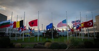 Flags at half-mast at NATO HQ in solidarity with France