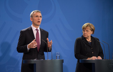 Joint press point by NATO Secretary General Jens Stoltenberg and German Chancellor Angela Merkel - Secretary General's opening remarks