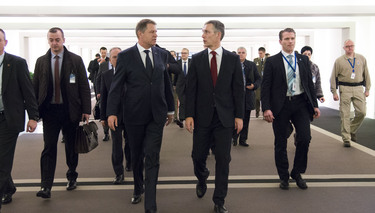 President of Romania visits NATO