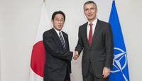 The Minister of Foreign Affairs of Japan visits NATO